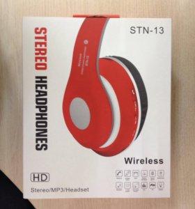 Новые Bluetooth-наушники STN-13 красные