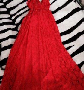 Платье длинное!