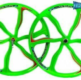 Диски литые вело 26х2,125~1,75 NAVIGATE (пара) зел