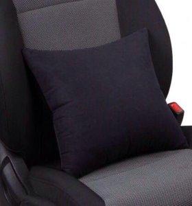 Автомобильная подушка из алькантары