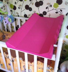 Пеленальная доска для кроватки