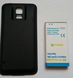 Усиленный аккумулятор на Samsung s5 g900fd