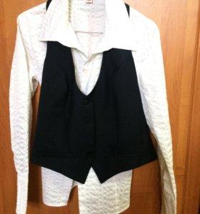 Блузка и жилет