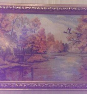 """Картина вышитая крестиком """"Природа"""""""