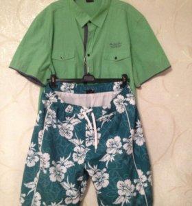 Рубашка и шорты летний комплект новый