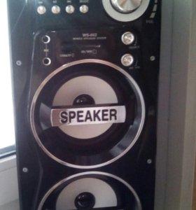 Портативная колонка ws-862 с Bluetooth Караоке