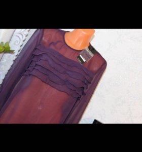 Блузка фиолетовая , шифон