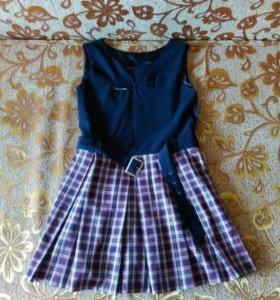 Платье для девочки 10 лет (школьный сарафан)