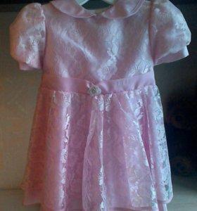 Нарядное платье(1-2года)