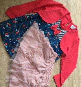 Платье и юбка 92-98