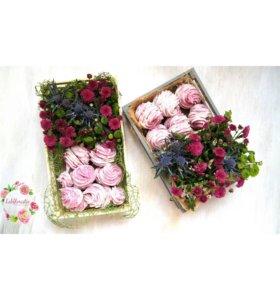 Цветочные коробочки на заказ