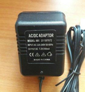 AC/DC adapter MX351507072 7,2 V 250mA
