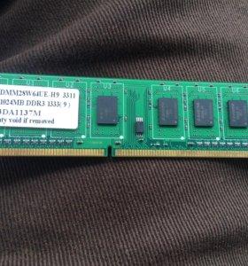 Оперативка DDR3 1024MB