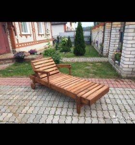 Шезлонг (лежак) деревянный