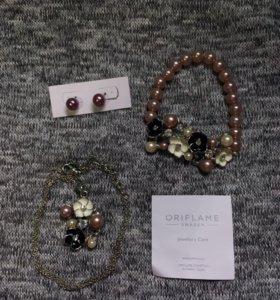 ORIFLAME Комплект браслет серьги подвеска