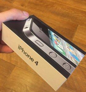 Коробка и бумаги iPhone 4