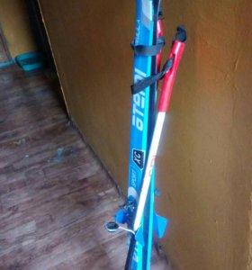 Лыжи детские с палками