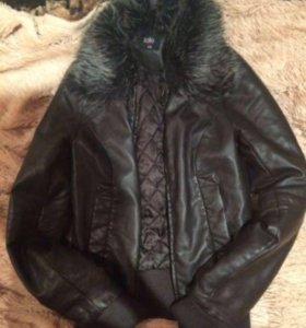 Кожаная куртка Zolla
