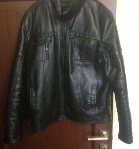 Куртка мужская кожаная с мехом 52 размер