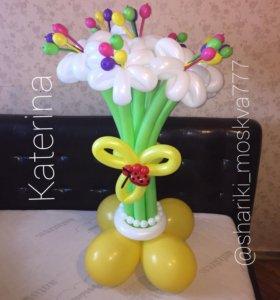 Цветочные букеты из шариков