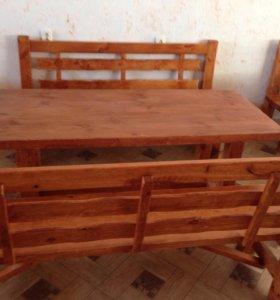 Срочно продам комплект (стол+2 лавки)