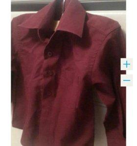 Бордовая рубашечка
