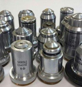 Объективы и окуляры для микроскопов Ломо