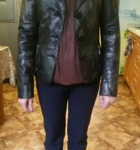 Кожаная куртка - пиджак ( натур)