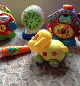 Музыкальные обучающие игрушки пакетом.
