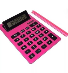 Калькулятор Гигант (большой) розовый