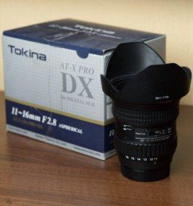 Tokina 11-16 F2.8 aspherical AT-X 116 PRO DX