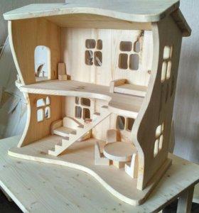 Кукольный домик деревянный