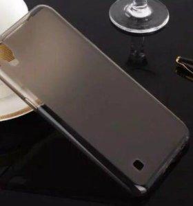 Силиконовый чехол чёрного цвета для Lg X Power