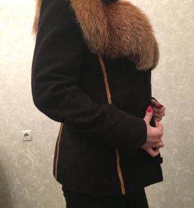 Куртка с натуральным мехом лисы