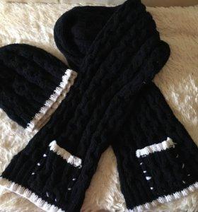 Продаю шерстяной комплект шапочку и шарфик.