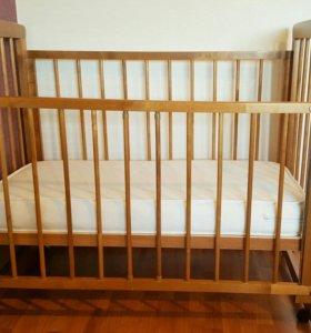 Кроватка детская +матрац