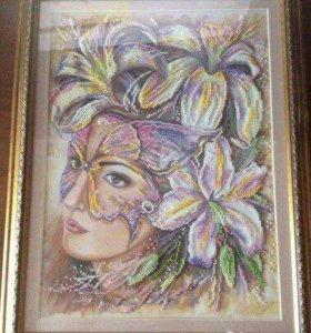 Картина из бисера.
