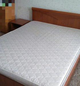 Двухспальная кровать + тумбочки Фабрика Шатура