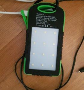 Внешняя батарея банк питания и фонарь