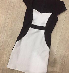 Чёрное-белое платье