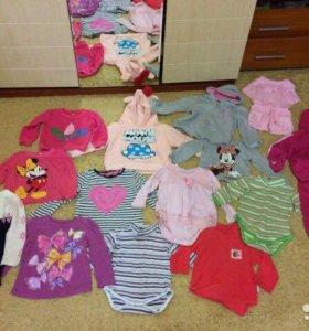 Кофточки для девочки от 1 года до 2 лет пакетом