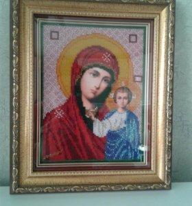 Икона Божьей Матери Казанской, бисер