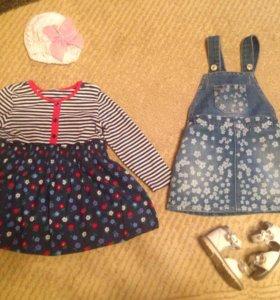 🎀 Пакет одежды для девочки 80-86 🎀