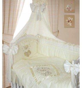 Бортики с балдахином  в кроватку Рафаэлло