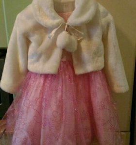 Платье на девочку 4-6лет