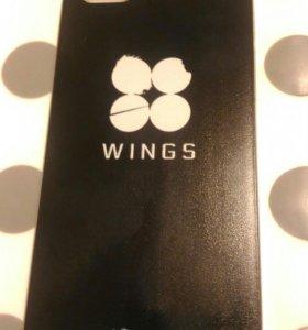 Чехол пластиковый новый для iPhone 5, 5s, SE (BTS)