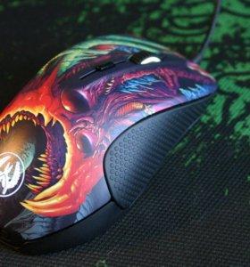 Игровая мышь : SteelSeries rival 300( CS GO Hyper)