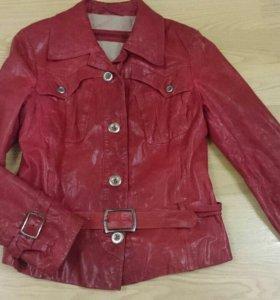 Куртка кожаная размер 46