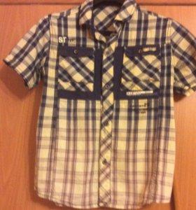 Рубашка на мальчика 9-12 лет