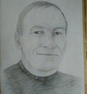 Рисую карандашные портреты а3, а4